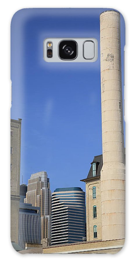 America Galaxy S8 Case featuring the photograph Minneapolis Smokestack by Frank Romeo