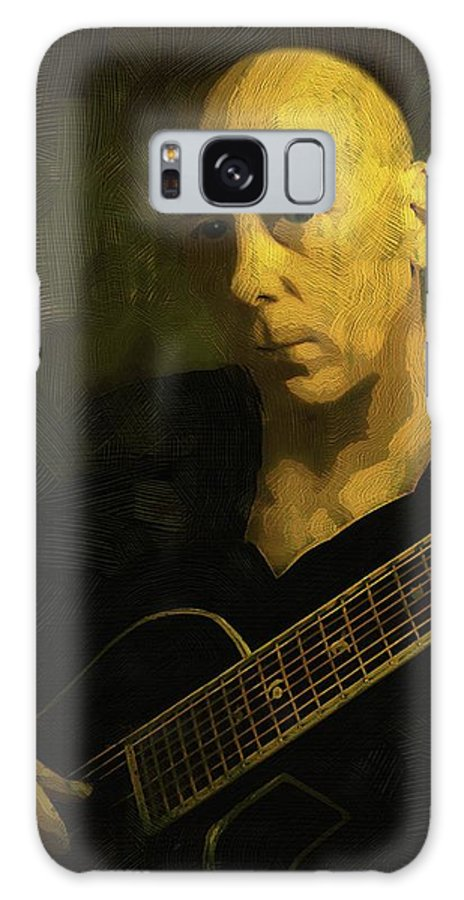 Guitar Galaxy S8 Case featuring the painting Minstrel Renaissance Modern by RC DeWinter