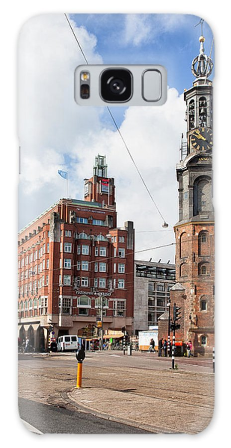 Amsterdam Galaxy S8 Case featuring the photograph Mint Tower In Amsterdam by Artur Bogacki