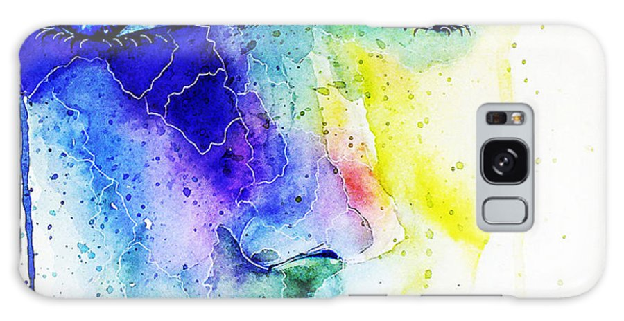 Watercolor Galaxy S8 Case featuring the painting Mirar by Elisabeth Vania