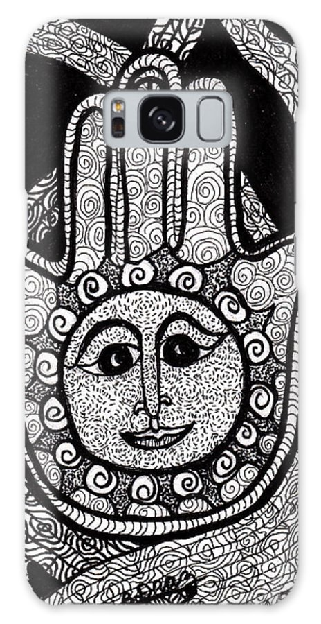 Hamas Galaxy S8 Case featuring the drawing Miriam's Peace by Barbra Drasby