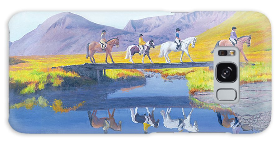 Horses Galaxy S8 Case featuring the painting Mirror In The Cairngorms by William Ireland