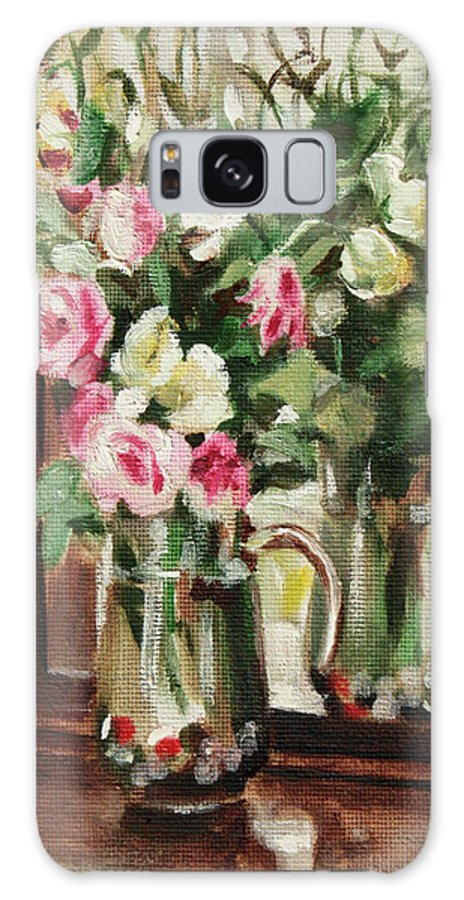 Flowers Galaxy S8 Case featuring the painting Mirror by Sarah Lynch