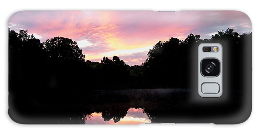 Sunset Galaxy S8 Case featuring the photograph Mirrored In The Lake by Scott B Bennett