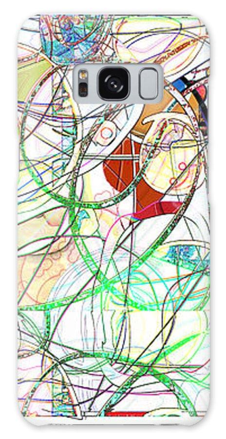 Abstract Galaxy S8 Case featuring the digital art Mishagas by Gabrielle Schertz