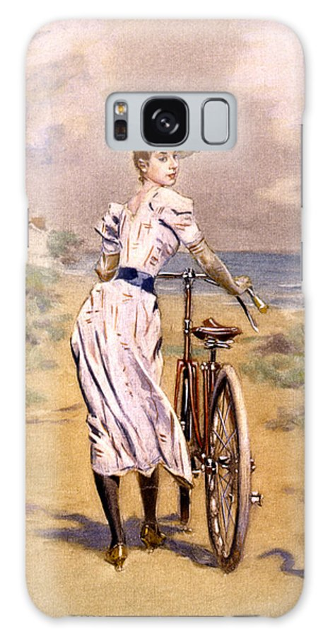 Miss Galaxy S8 Case featuring the photograph Miss Bicycle 1894 by Bill Cannon