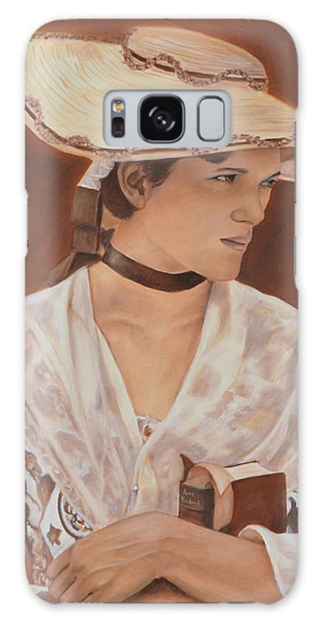 Portrait Galaxy Case featuring the painting Miss Nichols by Anne Kushnick