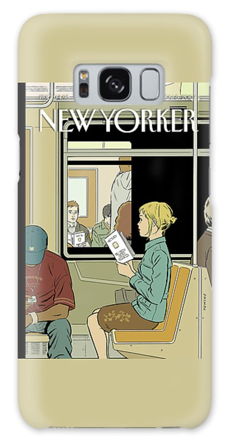 120017 120017  Atm Adrian Tomine Urban Subways Relationships Books Galaxy S8 Case featuring the painting Missed Connection by Adrian Tomine