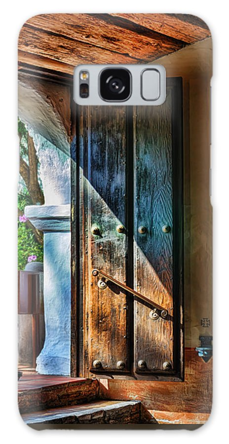 California Mission Galaxy S8 Case featuring the photograph Mission Door by Joan Carroll