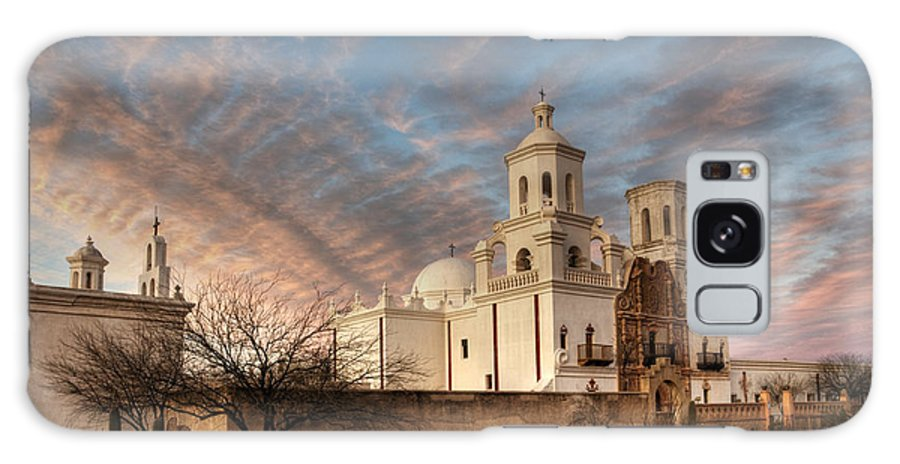 Mission San Xavier Del Bac Galaxy S8 Case featuring the photograph Mission San Xavier Del Bac by Vivian Christopher