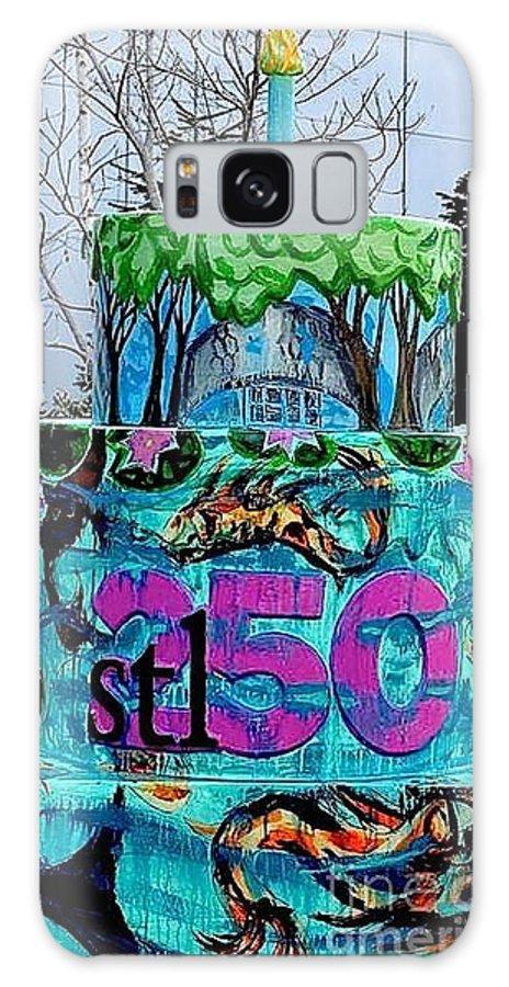 Birthday Cake Galaxy S8 Case featuring the painting Missouri Botanical Garden Stl250 Birthday Cake by Genevieve Esson