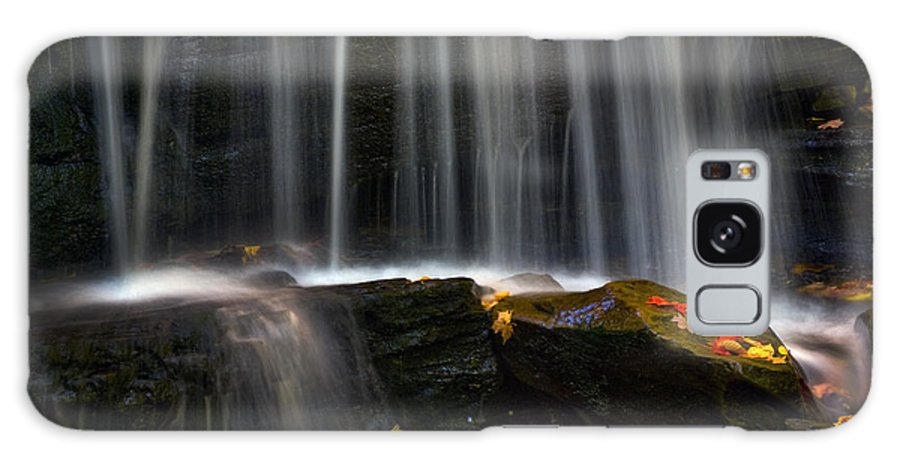 Ricketts Glen Galaxy S8 Case featuring the photograph Misty Falls by Paul W Faust - Impressions of Light