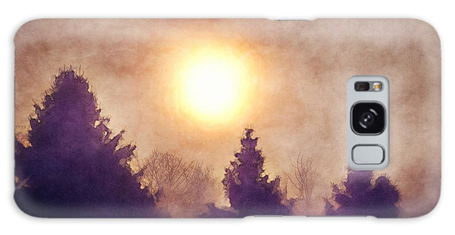 Sun Galaxy S8 Case featuring the digital art Misty Forest Sunrise by Phil Perkins