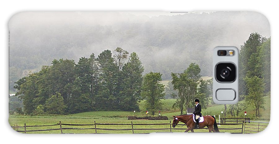 Dressage Galaxy S8 Case featuring the photograph Misty Morning Ride by Joan Davis