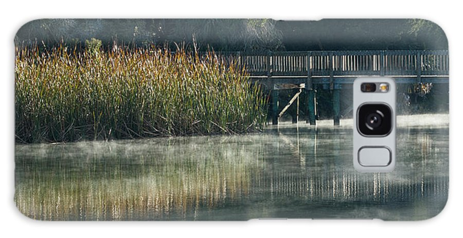 Florida Galaxy S8 Case featuring the photograph Misty Pond by Jane Luxton