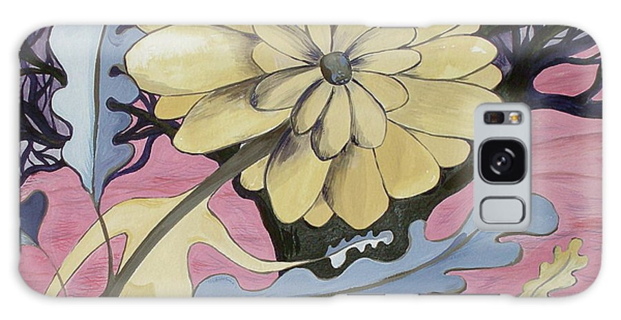 Flower.surreal Galaxy S8 Case featuring the painting Miz Fleur by Sue Wright