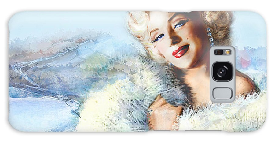 Marilyn Monroe Galaxy S8 Case featuring the painting Mm 126 D 4 Auf A4 by Theo Danella