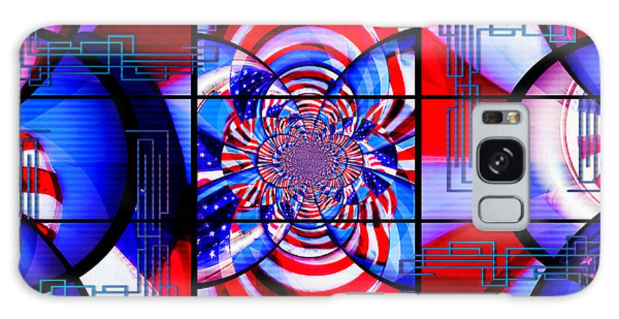 American Flag Galaxy S8 Case featuring the photograph Mod 163 - Freedom Abstract by Aurelio Zucco