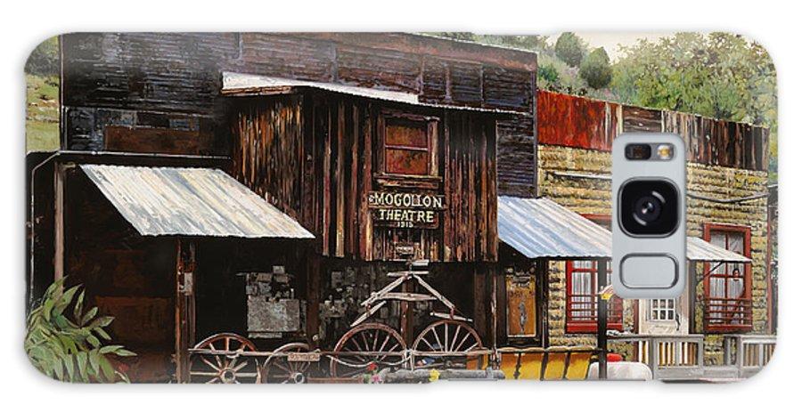 Theatre Galaxy S8 Case featuring the painting Mogollon-theatre-new Mexico by Guido Borelli