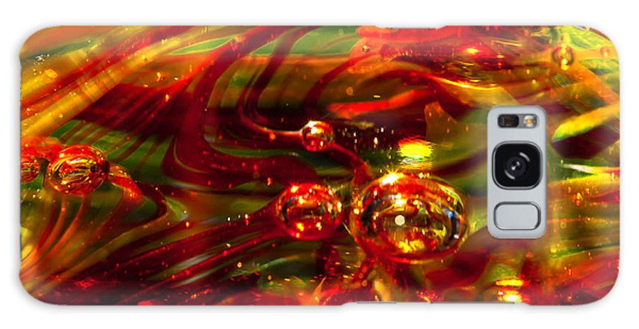 Glass Galaxy S8 Case featuring the photograph Molten Bubbles by David Patterson