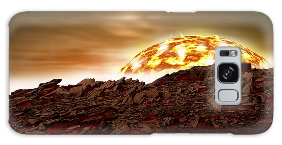 Astronomy Galaxy S8 Case featuring the photograph Molten Sunrise by Marc Ward