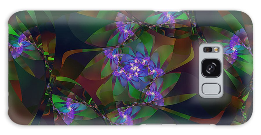 Fractal Galaxy S8 Case featuring the digital art Mom's African Violets by Richard Kelly