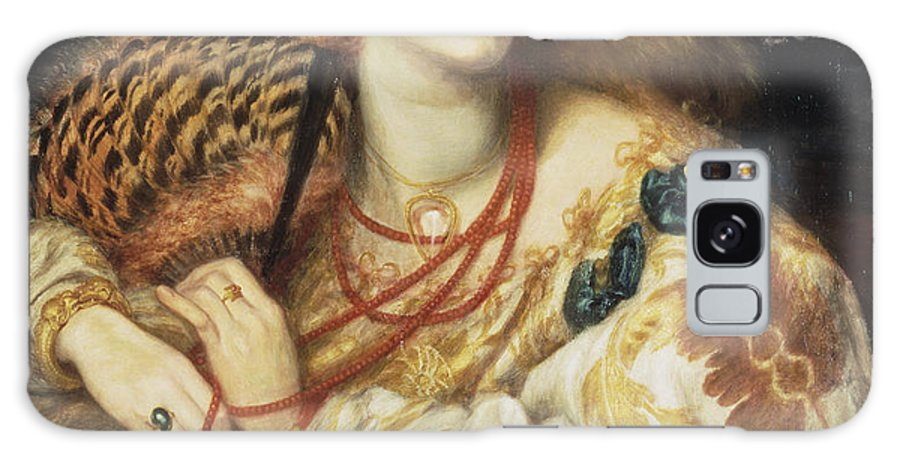 Beauty Galaxy S8 Case featuring the painting Mona by Dante Gabriel Rossetti