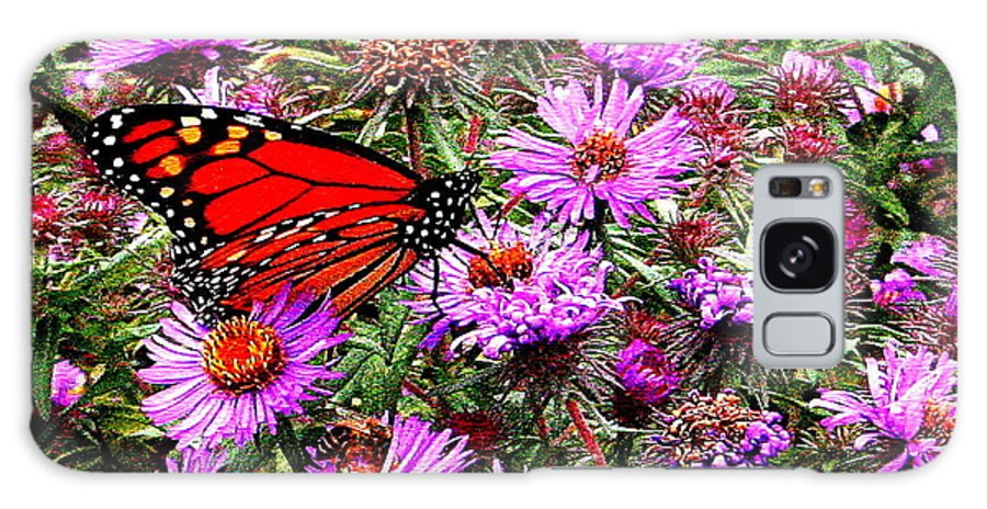Monarch Galaxy S8 Case featuring the photograph Monarch Among The Asters by Laurel Talabere