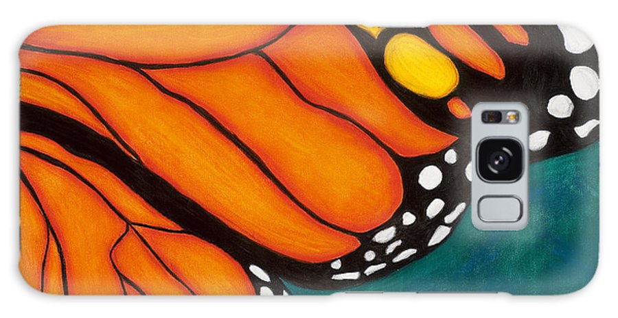 Butterfly Galaxy S8 Case featuring the painting Monarch by Dana Strotheide