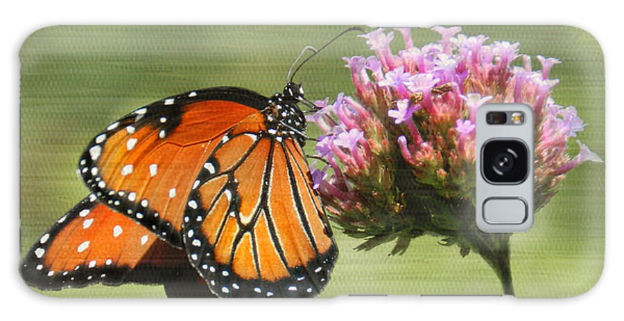 Butterfly Galaxy S8 Case featuring the photograph Monarch Flutterby by Grace Dillon