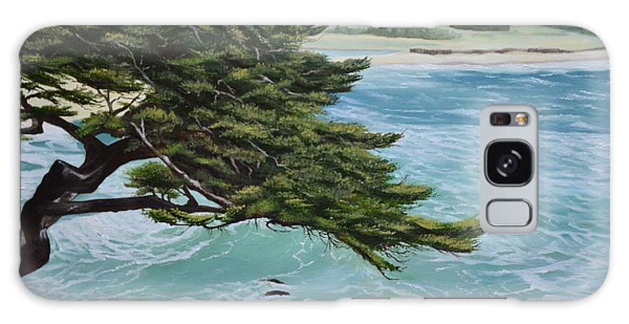 Beach Galaxy S8 Case featuring the painting Monastery Beach by Mary Rogers