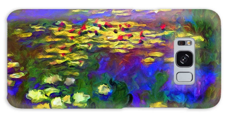Abstract Galaxy S8 Case featuring the mixed media Monet Would Be Horrified by Georgiana Romanovna