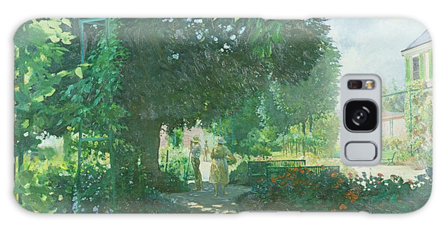Trees Galaxy S8 Case featuring the photograph Monets Garden Oil On Board by William Ireland