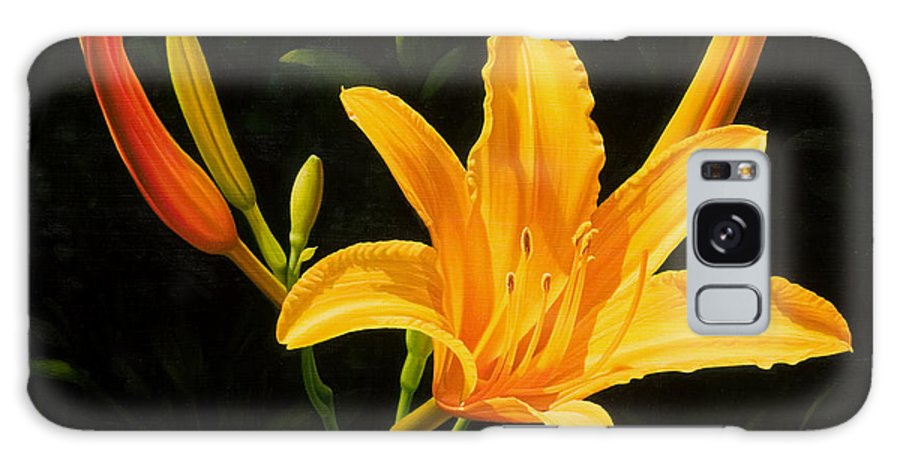 Floral Galaxy Case featuring the painting Monikas Lily by Gary Hernandez