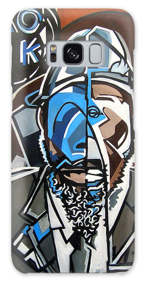 Thelonious Monk Jazz Piano Galaxy S8 Case featuring the painting Monk Red Wall by Martel Chapman