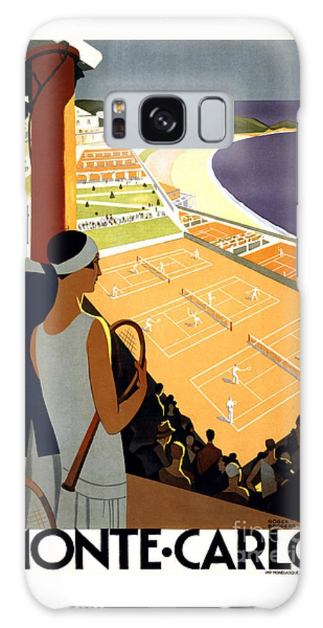Travel Poster Galaxy S8 Case featuring the painting Monte-carlo - Travel Poster For Plm - 1930 by Pablo Romero