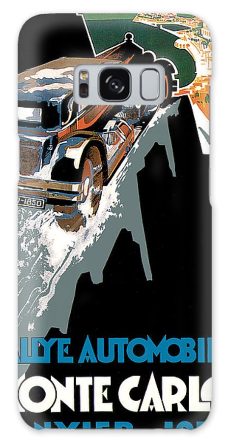 Advertisement Galaxy S8 Case featuring the drawing Monte Carlo - Vintage Poster by World Art Prints And Designs