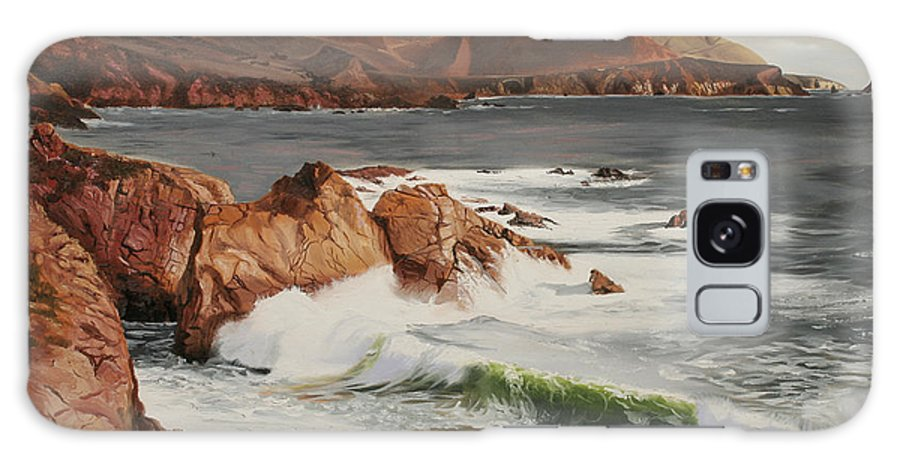 Seascape Galaxy S8 Case featuring the painting Monterey Coast by Kenneth Young