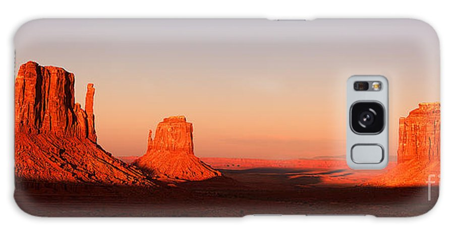 Monument Galaxy S8 Case featuring the photograph Monument Valley Sunset Pano by Jane Rix