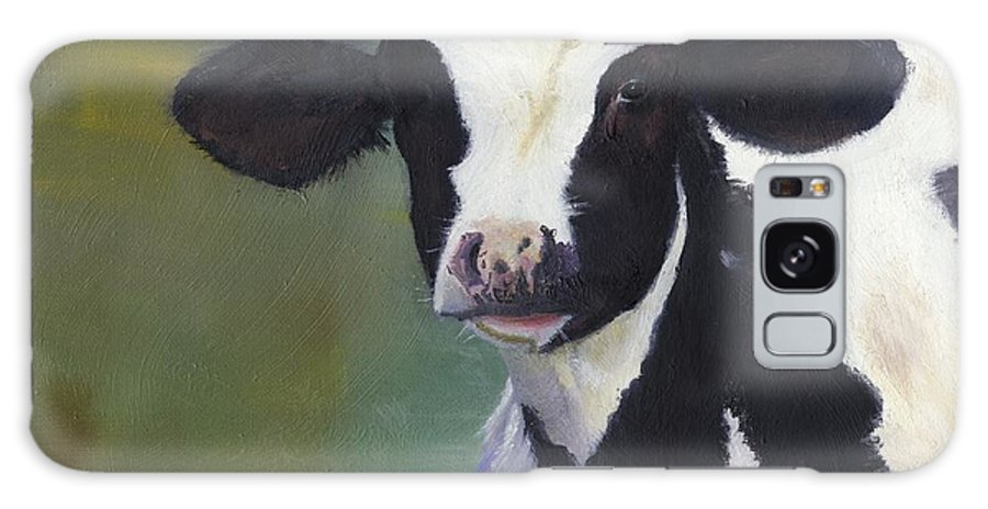 Holstein Galaxy S8 Case featuring the painting Moo-lah by Gloria Condon