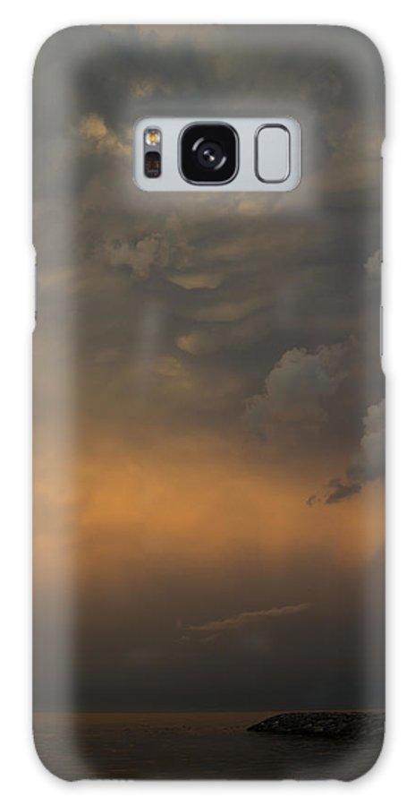 Cloud Galaxy S8 Case featuring the photograph Moody Storm Sky Over Lake Ontario In Toronto by Georgia Mizuleva