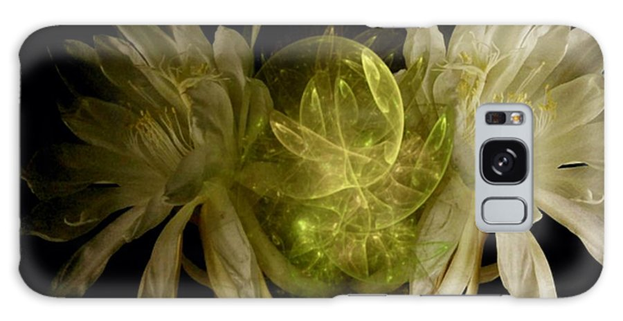 Flower Galaxy S8 Case featuring the photograph Moon Flower by Rebecca Lemke