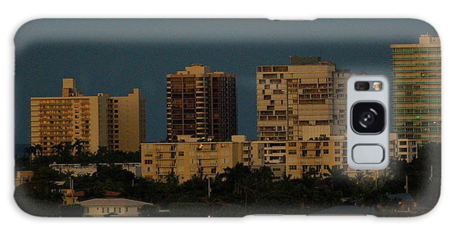 Bal Harbour Flordia Galaxy S8 Case featuring the photograph Moon Over Bal Harbour by David Call