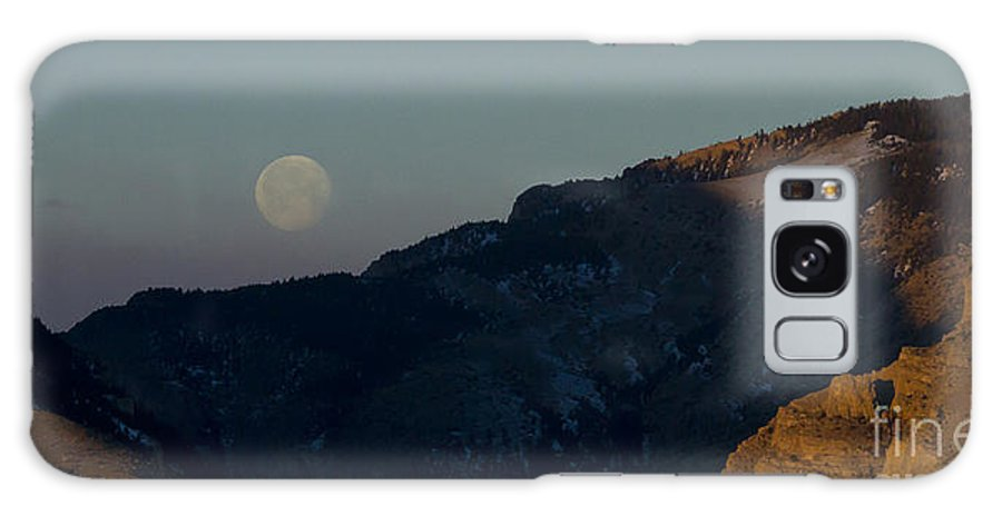 Mountain Galaxy S8 Case featuring the photograph Moon Over Rattlesnake Mountain  #2830 by J L Woody Wooden