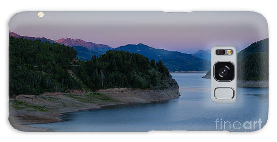 Palisades Galaxy S8 Case featuring the photograph Moon Over The Palisades by Idaho Scenic Images Linda Lantzy