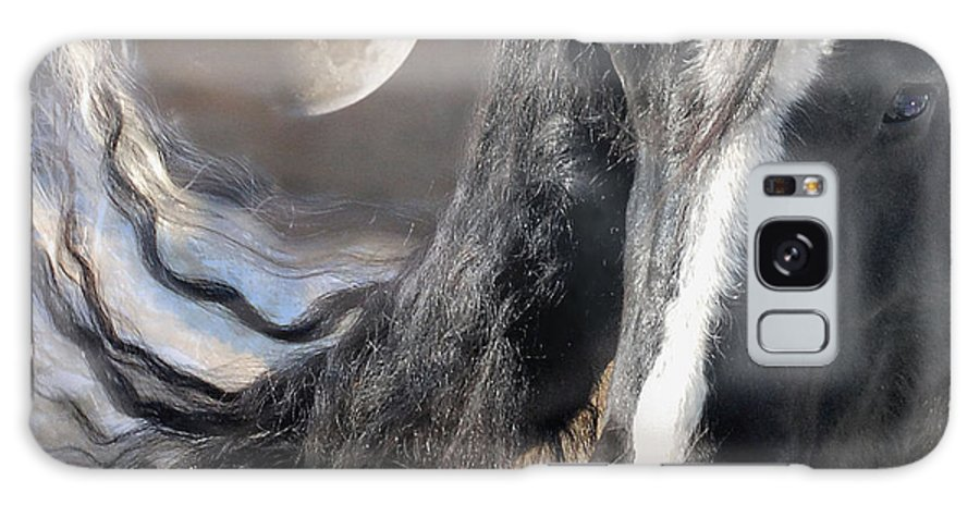 Horse Art Prints Galaxy S8 Case featuring the photograph Moonlight And Valentino by Fran J Scott