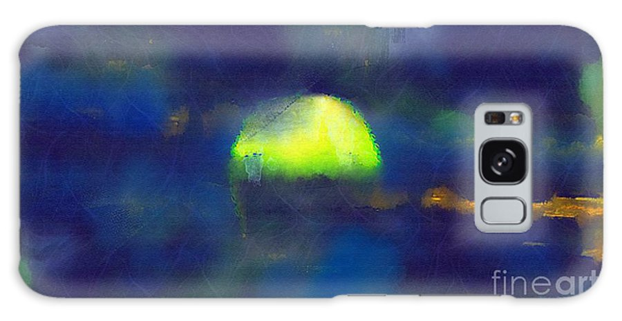 Sea Galaxy S8 Case featuring the painting Moonrise Primitive by RC DeWinter