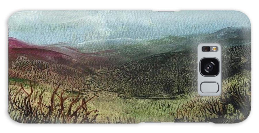 Moorland Galaxy S8 Case featuring the painting Moorland View 2 by Carol Rowland