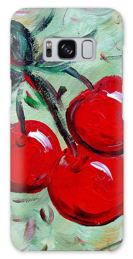 Cherries Galaxy S8 Case featuring the painting More Cherries by Cynthia Hudson
