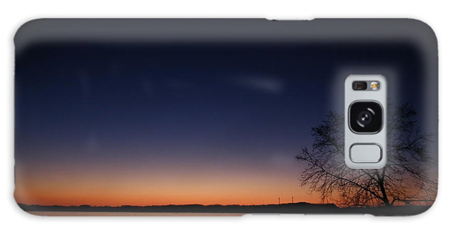 Sunrise Galaxy S8 Case featuring the pyrography morn on the Susquehanna by Jeffrey Wonders
